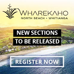 Wharekaho Subdivision - North Beach Whitianga - Stunning Coastal Sections From $230,000 - Enquire Now