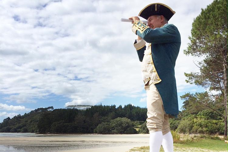 Commemorating Captain James Cook in the Mercury Bay