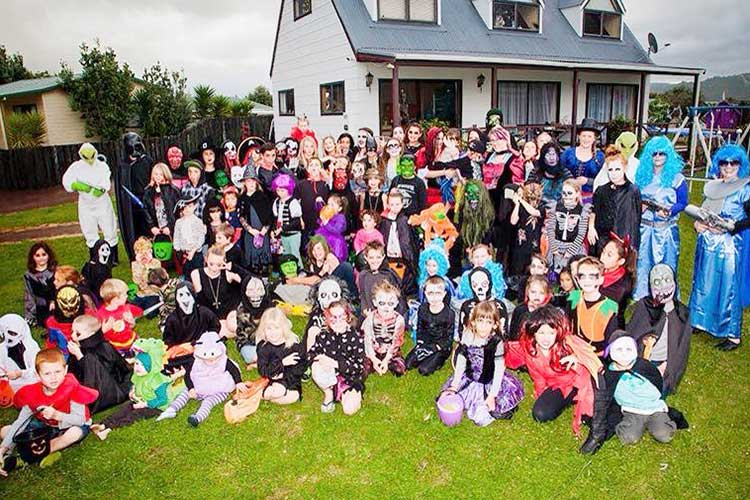 Whitianga Halloween Group Photo