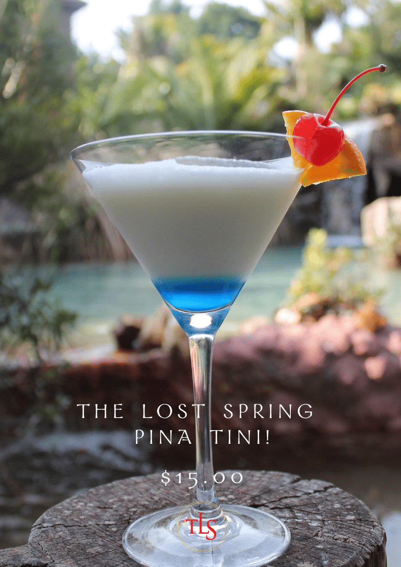 The Lost Spring Pina Tini Cocktail